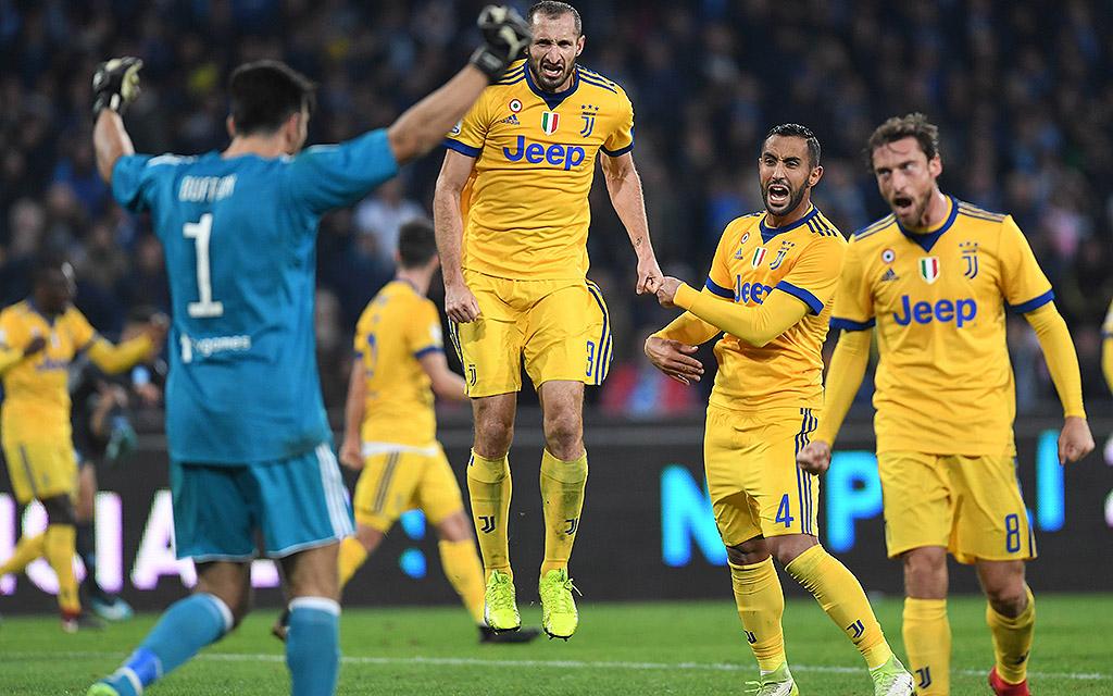 Das Hinspiel gewann Juventus bei Napoli mit 1:0