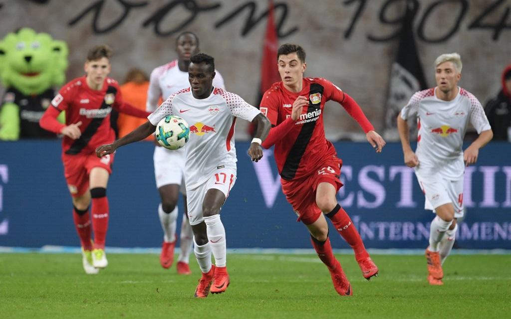 Bruma und Kai Havertz im Spiel Bayer Leverkusen - RB Leipzig Saison 2017/18.