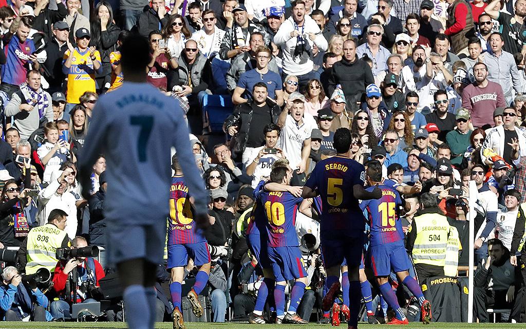 Das Hinspiel im Bernabeu-Stadion gewann Barcelona mit 3:0