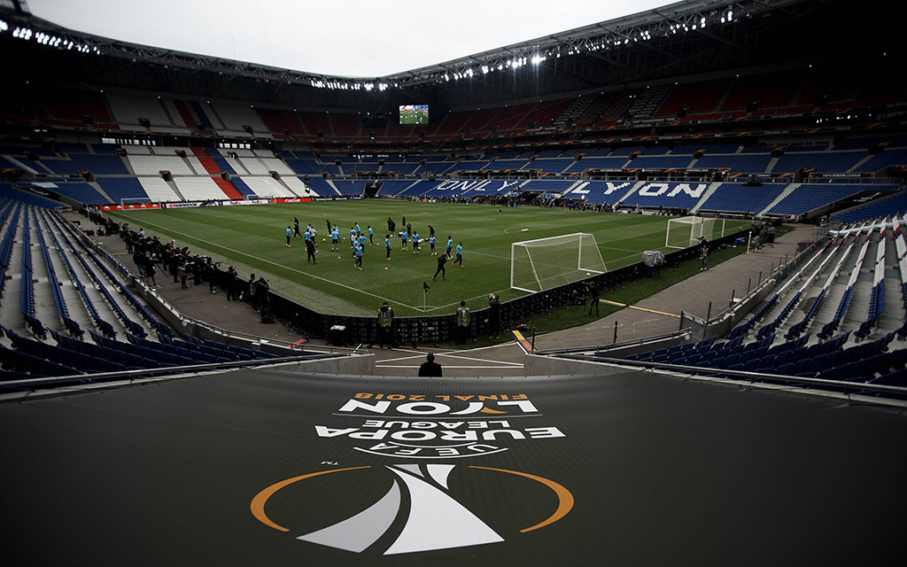 Das Parc Olympique Lyonnais ist der Austragungsort des Finals Marseille - Atletico.