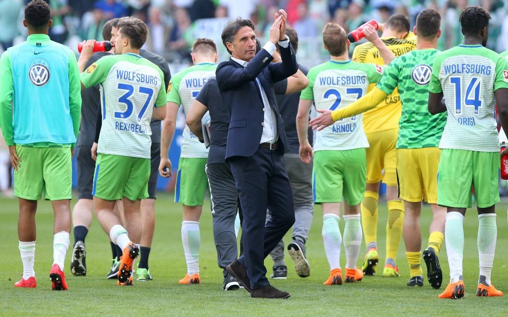 Wolfsburg nach dem 4:1 am 34. Spieltag der Saison 2017/18 gegen den 1. FC Köln.