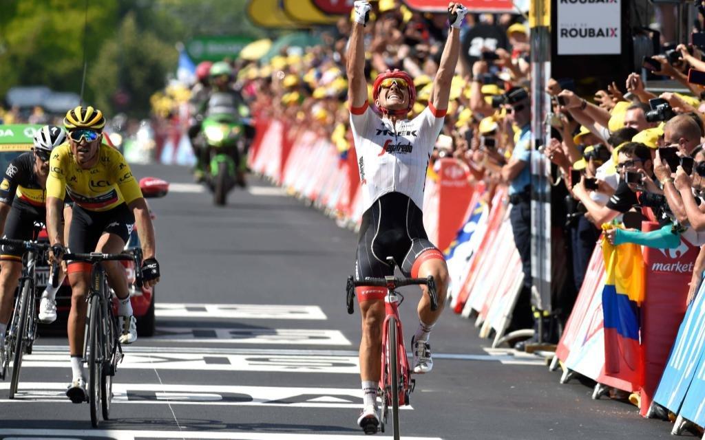 9. Etappe der Tour de France: John Degenkolb gewinnt den Zielsprint..