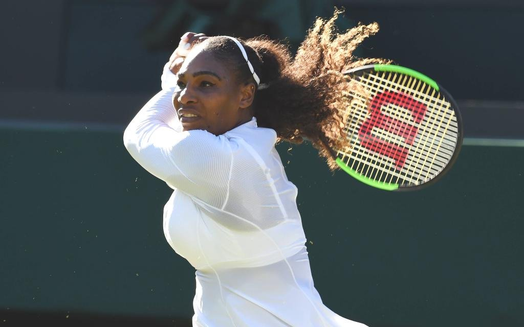 Serena Williams in Wimbledon.