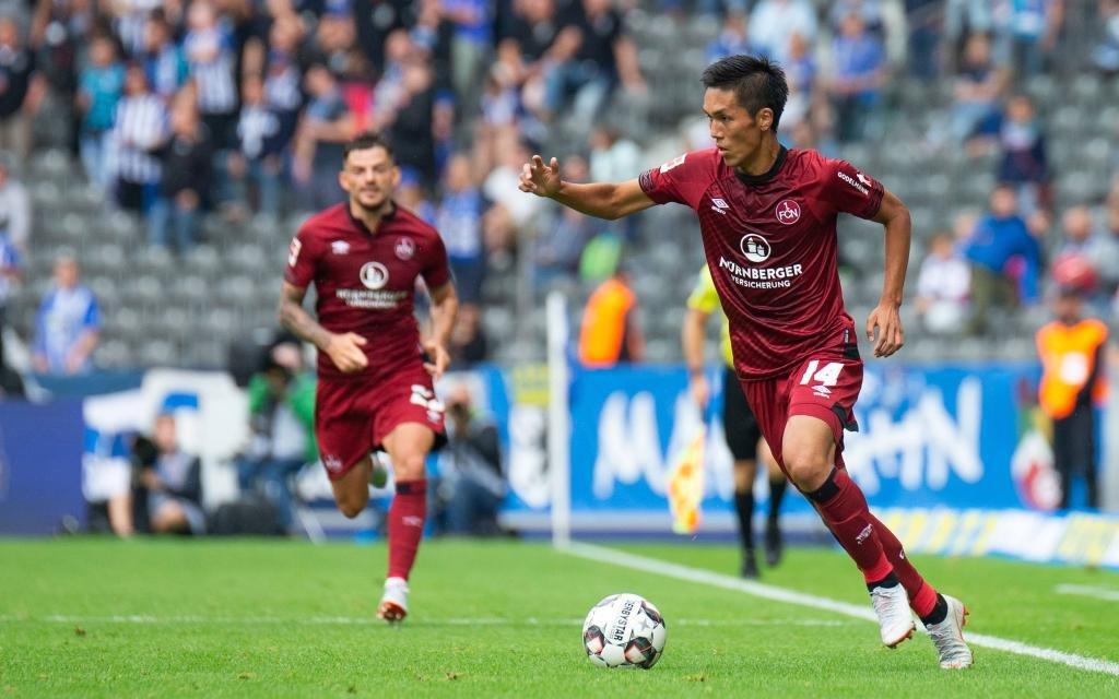 Yuya Kubo vom 1. FC Nürnberg beim Auswärtsspiel bei Hertha BSC Berlin Saison 2018/19.