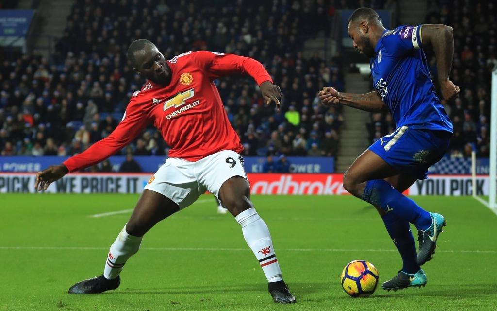 Ligaspiel Leicester City - Manchester United Saison 2017/18.