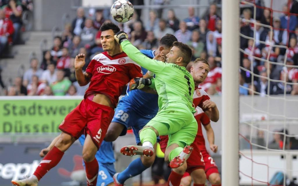 Düsseldorf beim 2:1-Sieg gegen Hoffenheim.