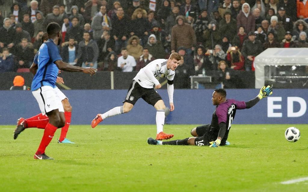 Timo Werner traf beim letzten Test gegen Frankreich zum zwischenzeitlichen 1:1.