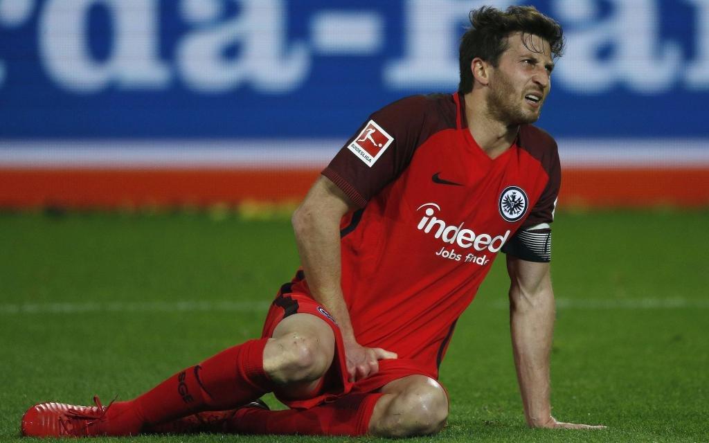 David Abraham von Eintracht Frankfurt im Spiel gegen Borussia Dortmund.