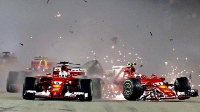 Der Singapur-Clash: Verstappen im Ferrari-Sandvich