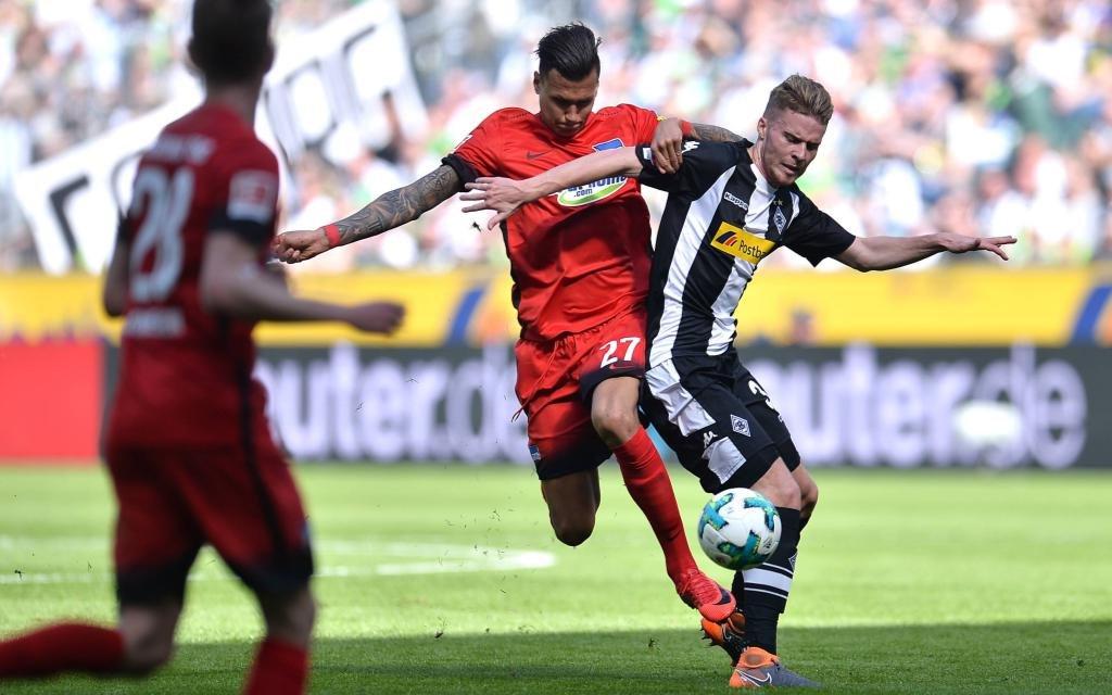 Hertha BSC Berlin beim Gastspiel in Mönchengladbach Saison 2017/18