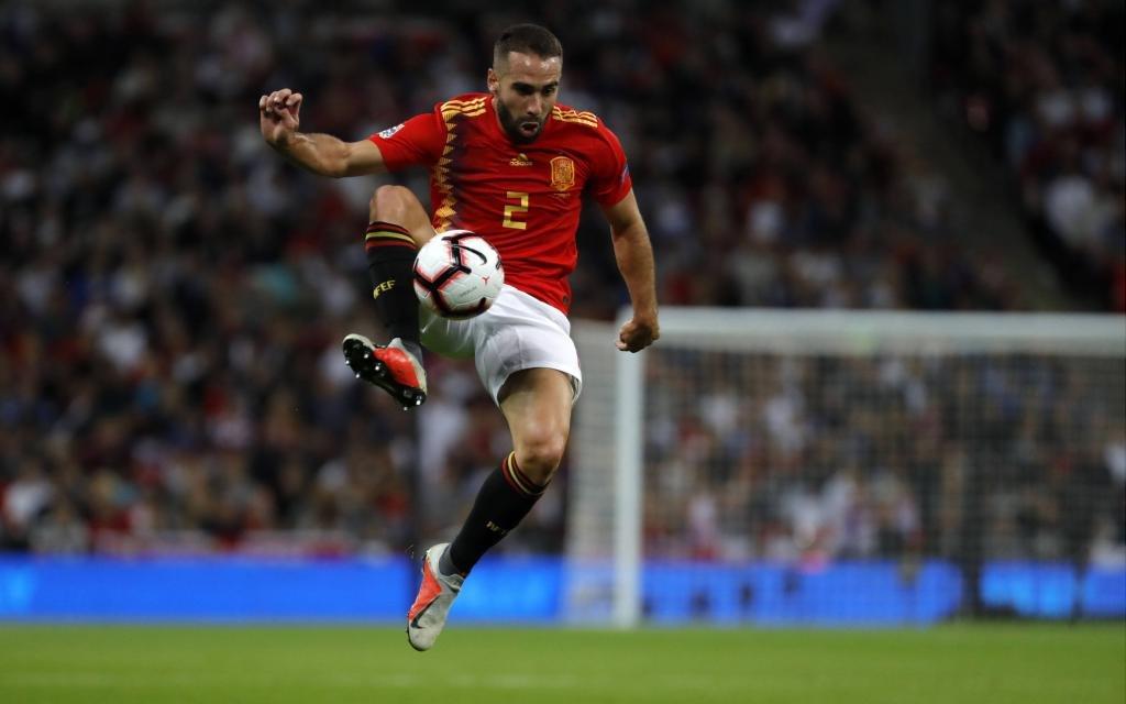 Daniel Carvajal im Spiel der Nations League zwischen England und Spanien.