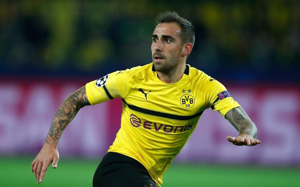 Paco Alcacer im Spiel Borussia Dortmund - AS Monaco.