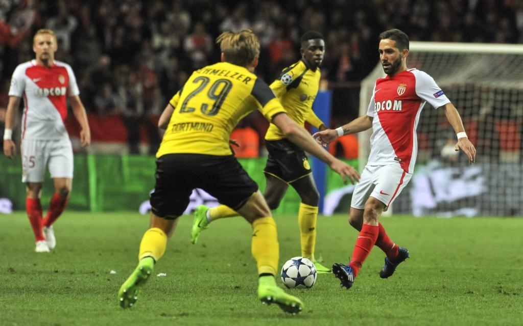 Borussia Dortmund beim Gastspiel in Monaco im Viertelfinale der Champions League 2017.