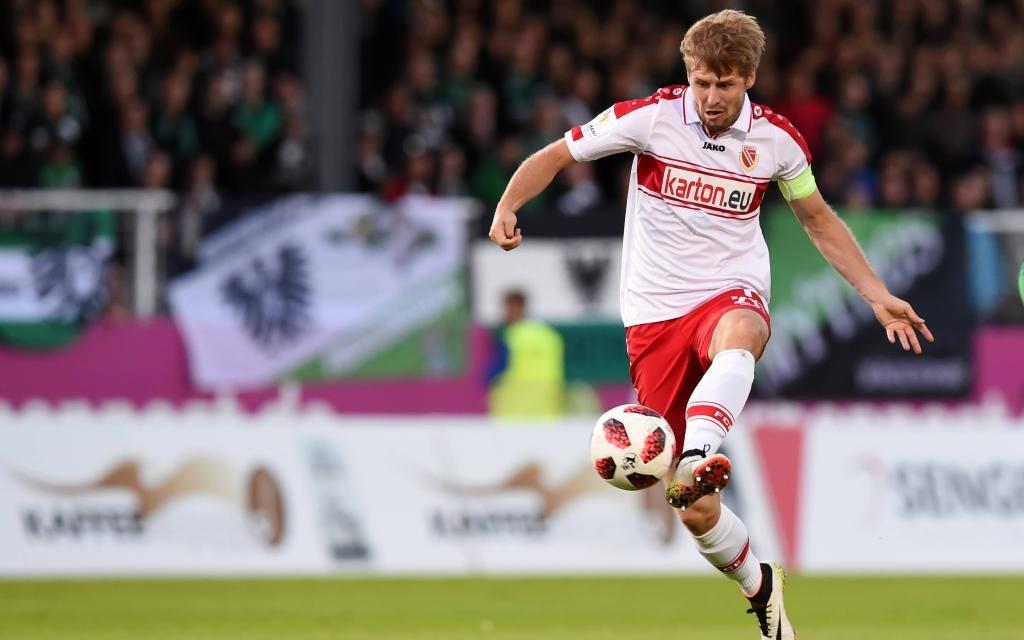 Marc Stein von Energie Cottbus im Spiel gegen Preußen Münster. Gegen Halle steht er bestimmt in der Startelf.