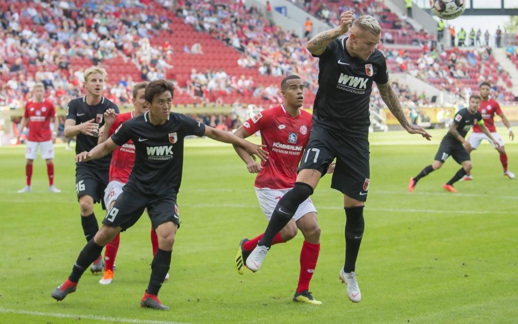 FSV Mainz 05 im Heimspiel gegen den FC Augsburg am 3. Spieltag der Saison 2018/19.
