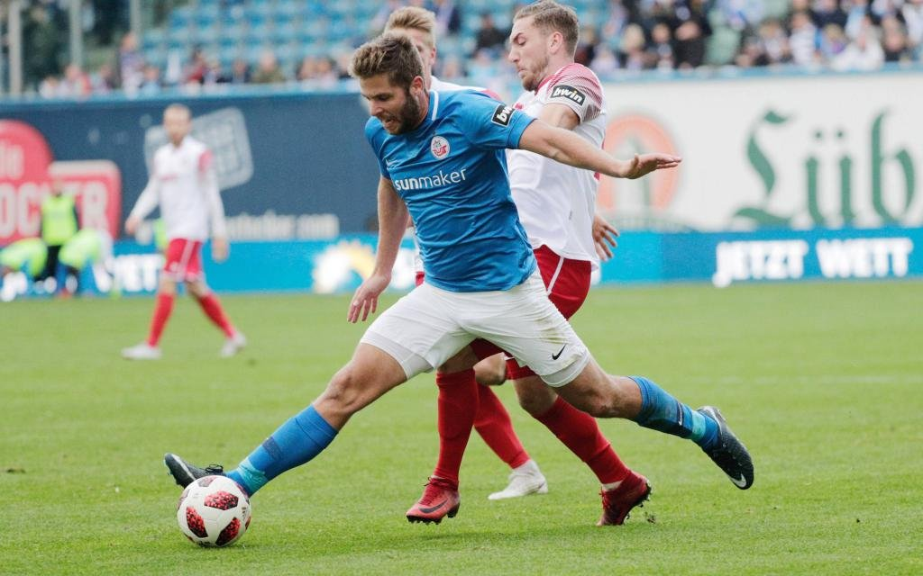 Hansa Rostock beim 3:1 gegen Fortuna Köln in der Saison 2018/19.
