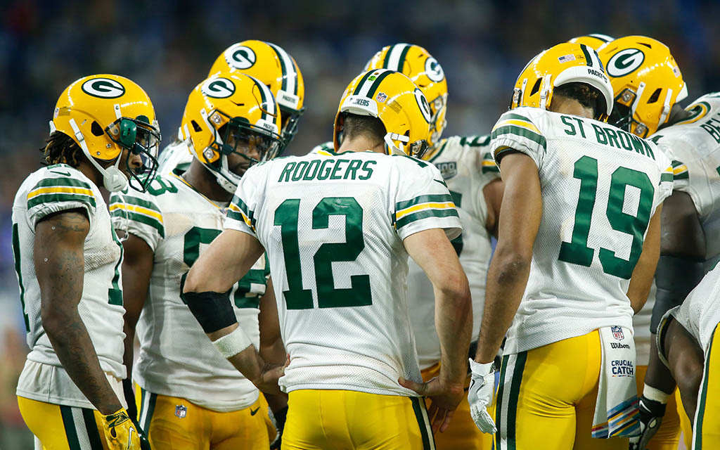 Favorit Green Bay Packers im Huddle