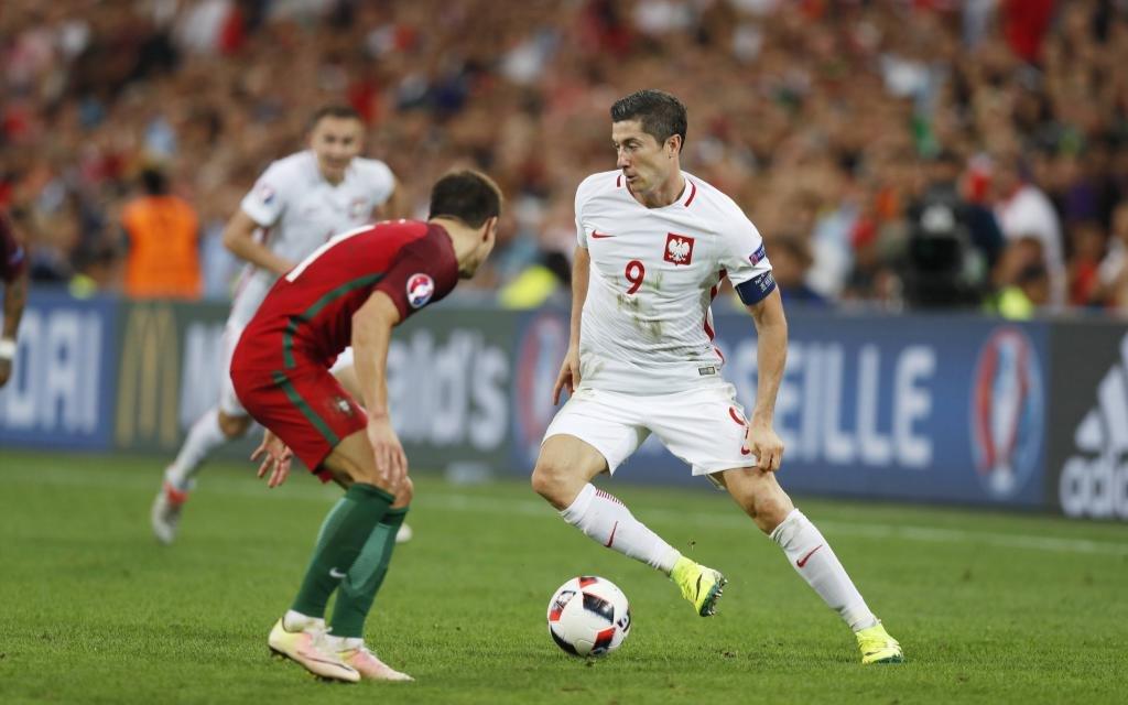 Robert Lewandowski bei der Euro 2016 gegen Portugal.