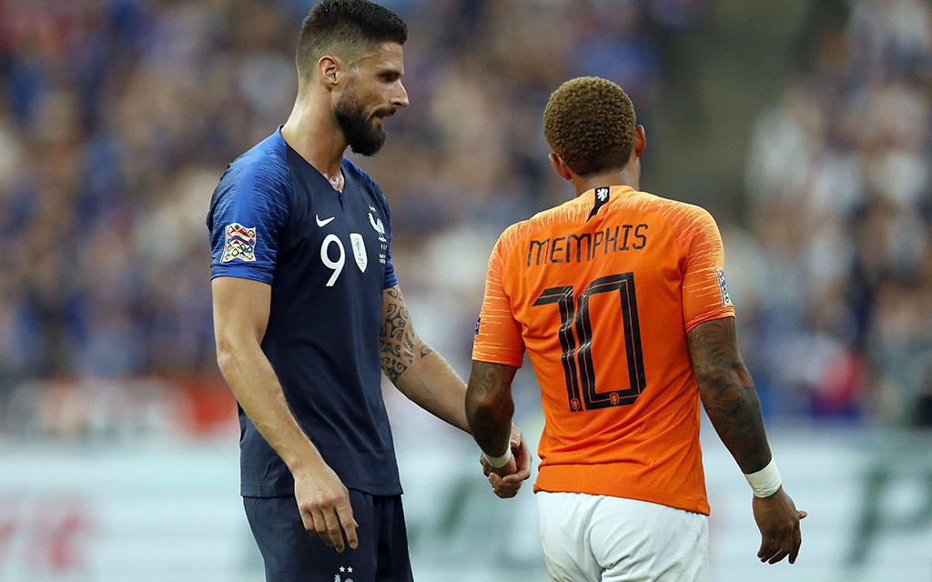 Das Hinspiel gewann Frankreich gegen die Niederlande mit 2:1