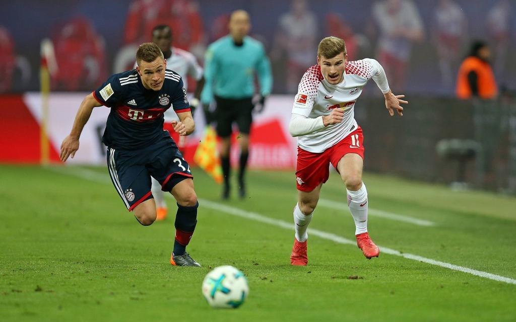 RB Leipzig FC Bayern Muenchen Joshua Kimmich Bayern Munich Timo Werner RB Leipzig DeFodi035