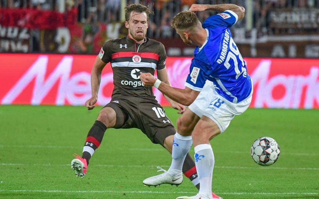 St. Pauli mit 2:0-Erfolg gegen Darmstadt im August.