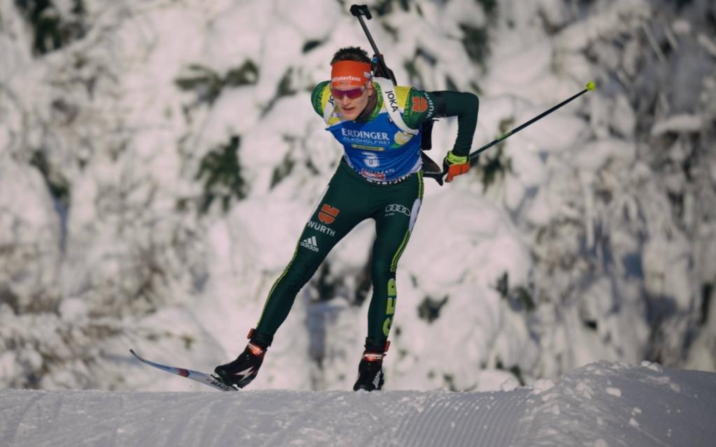 Sprint der Herren in Oberhof mit Sprintweltmeister Benedikt Doll.