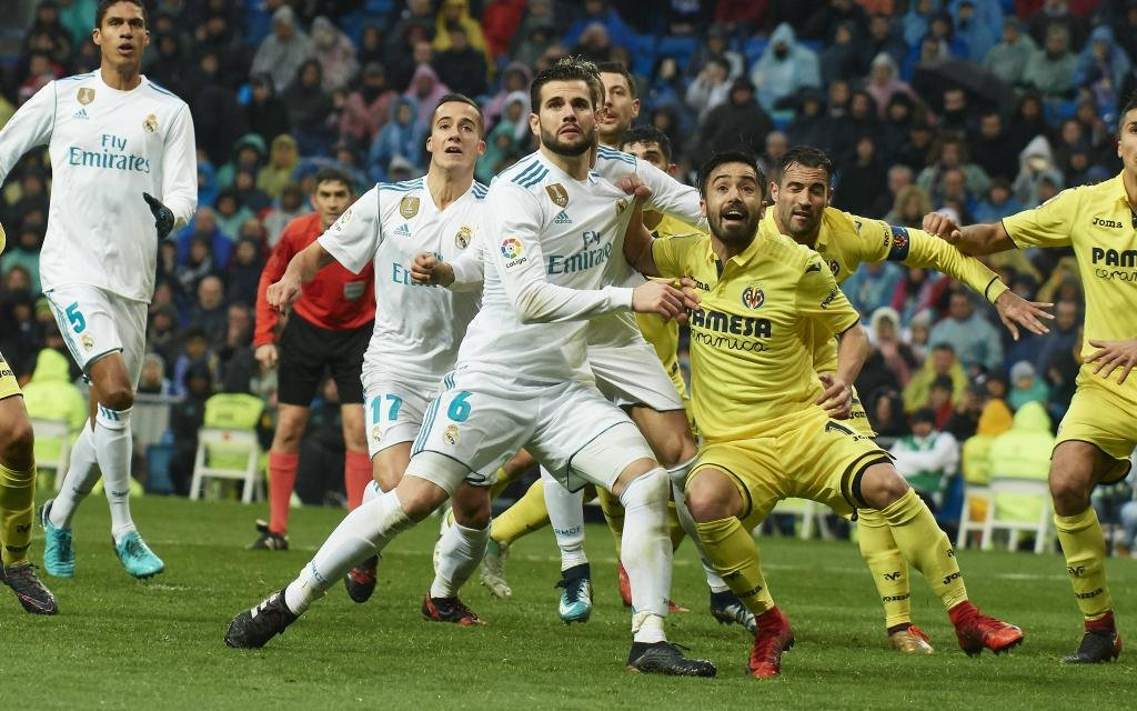 Nacho Fernandez von Real Madrid im Ligaspiel gegen den FC Villarreal Saison 201718.