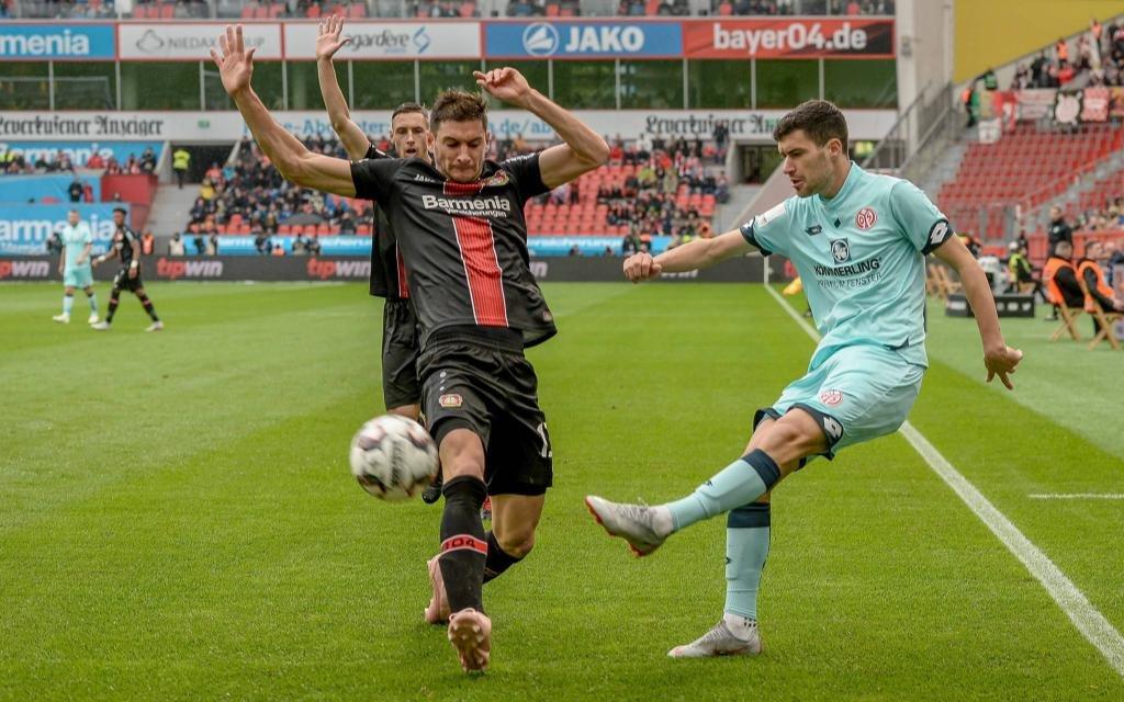 Tor- und punktlos blieb Mainz in der Hinrunde: Leverkusen siegte 1:0.
