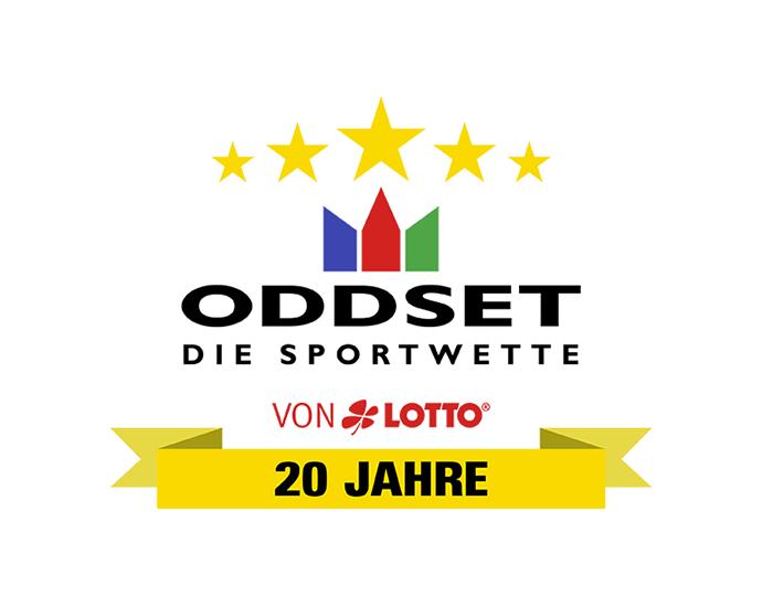 2019: ODDSET feiert sein 20-jähriges Jubiläum.