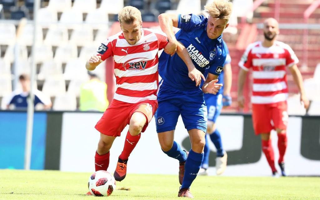 In der Hinrunde nahm Zwickau einen Punkt mit aus Karlsruhe.