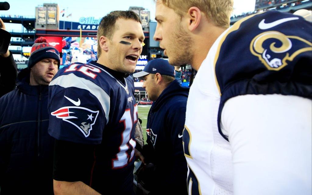 Das Duell der QBs Brady (l.) gegen Goff (r.) ist im Super Bowl ausschlaggebend