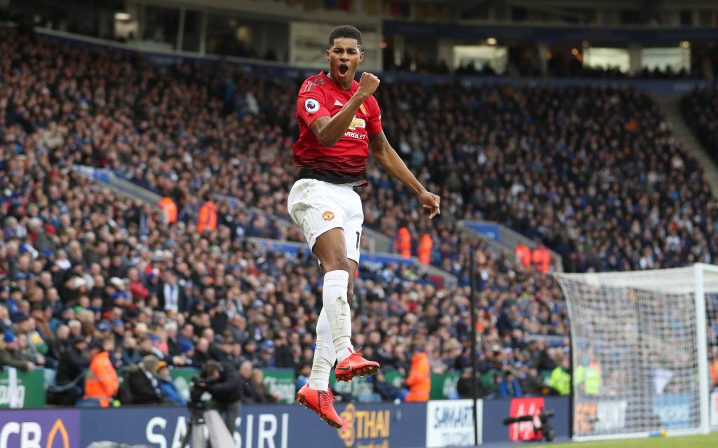 Leicester City v Manchester United ManU - Premier League - King Power Stadium Manchester United s Marcus Rashford