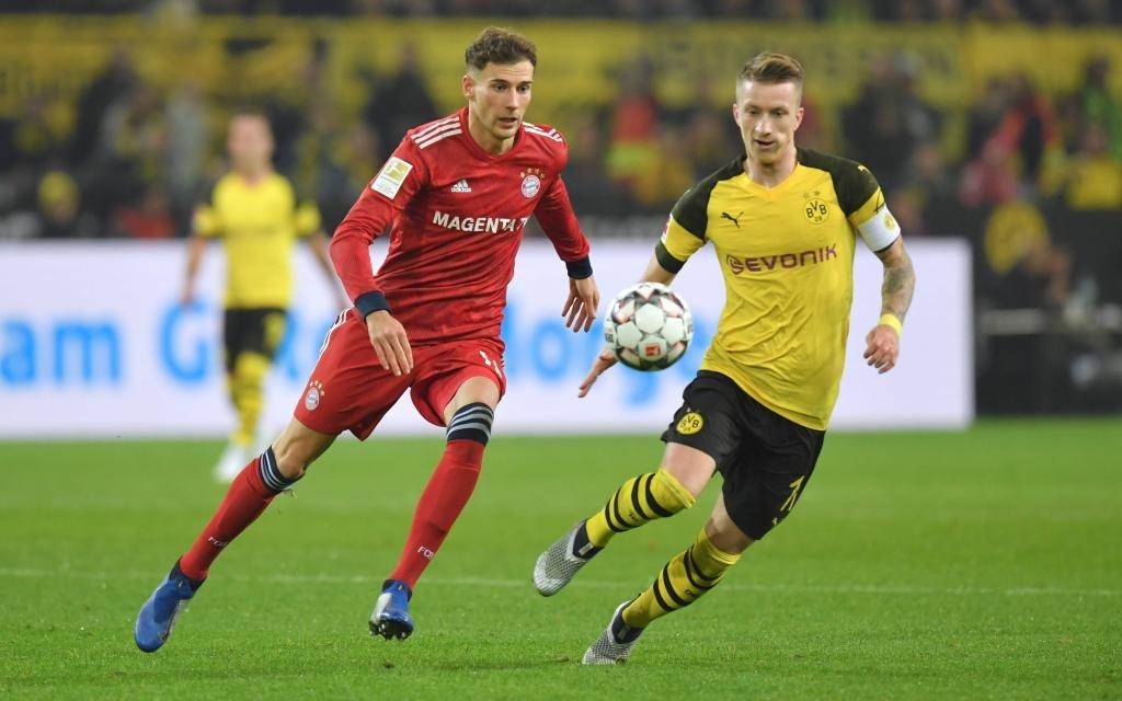 Saison 2018 2019, 1. Bundesliga, 11. Spieltag, Borussia Dortmund - FC Bayern Muenchen 3:2, v.li., Leon Goretzka (FC Bayern Muenchen), Marco Reus (Borussia Dortmund)