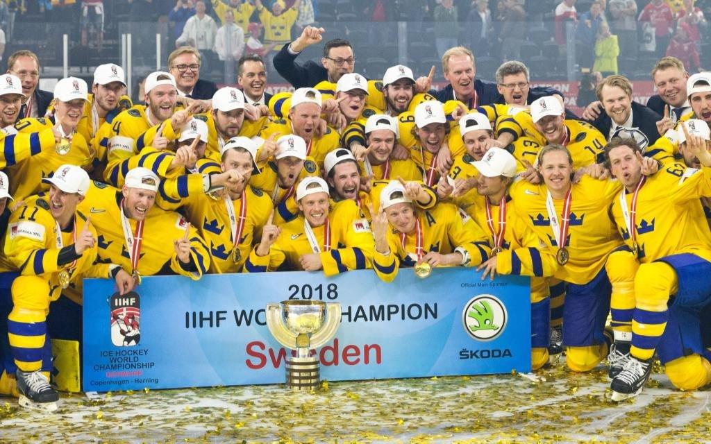 Bitte lächeln: Schweden feiert den WM-Titel 2018.
