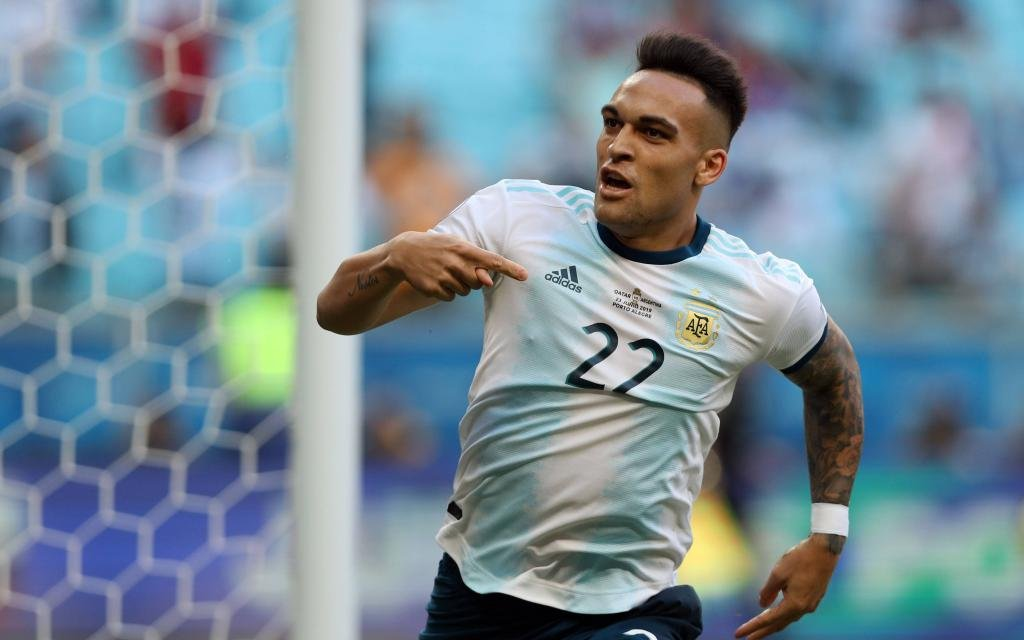 Lautaro Martinez (ARG), June 23, 2019 - Football / Soccer : Copa America 2019, Group B match between Qatar 0-2 Argentina at Arena do Gremio in Porto Alegre, Brazil