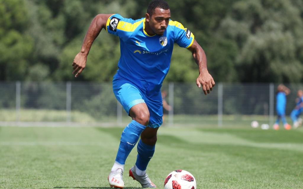 GER, 3.Liga, SV Rothenstein 08 vs FC Carl Zeiss Jena 23.06.19 , Rothenstein, GER, 3.Liga, Vorbereitung Saison 2019/2020, SV Rothenstein 08 vs FC Carl Zeiss Jena im Bild Anton Donkor (Jena)