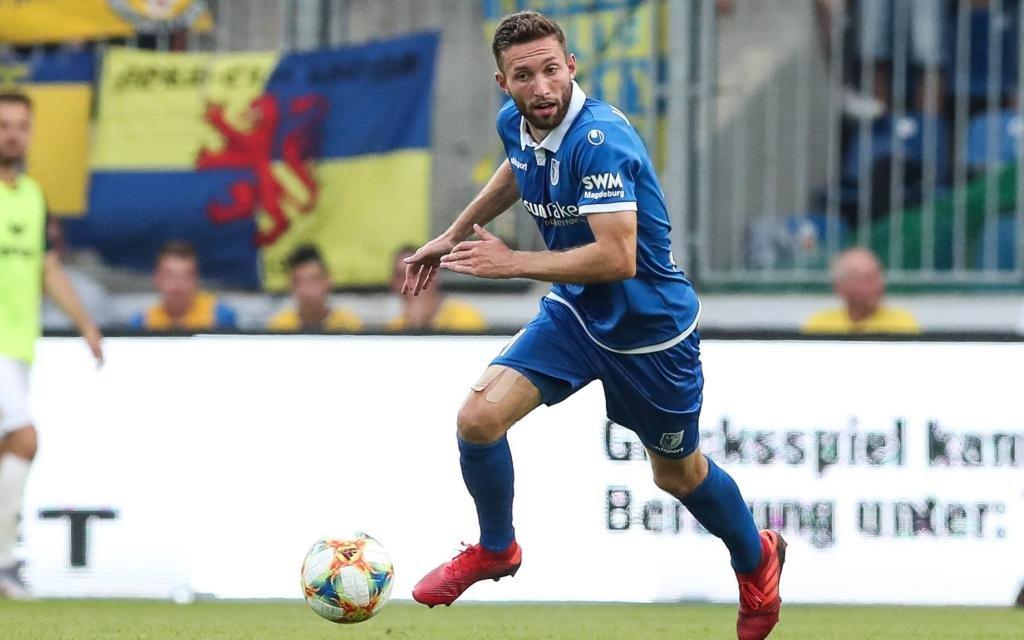 Rico Preißinger (1. FC Magdeburg) - 3. Liga Saison 2019-2012 Punktspiel 1. FC Magdeburg vs. Eintracht Braunschweig in der MDCC Arena in Magdeburg