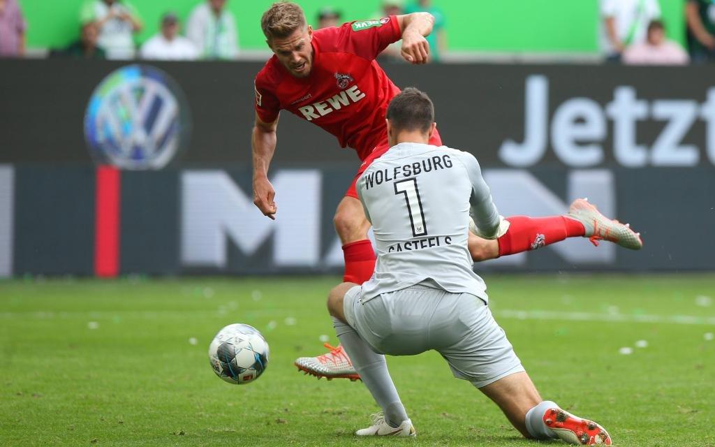 Simon Terodde vom 1. FC Köln im Spiel beim VfL Wolfsburg in der Bundesliga Saison 2019/20.