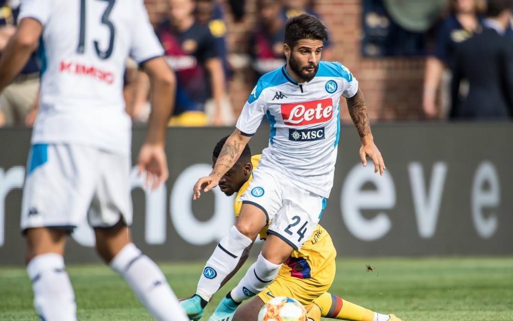 Napolis Offensiv-Waffe Insigne beim Test gegen den FC Barcelona