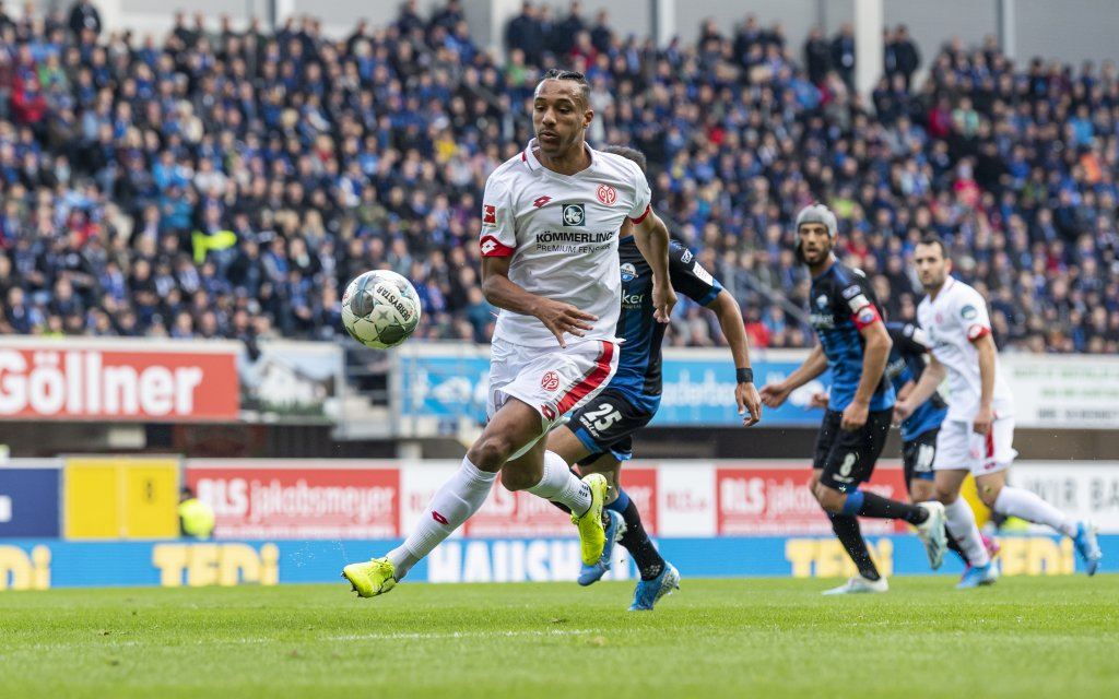Karim Onisiwo FSV Mainz 05 21, GER, 1 FBL, SC Paderborn 07 vs 1 FSV Mainz 05 05 10 2019, Benteler Arena, Paderborn