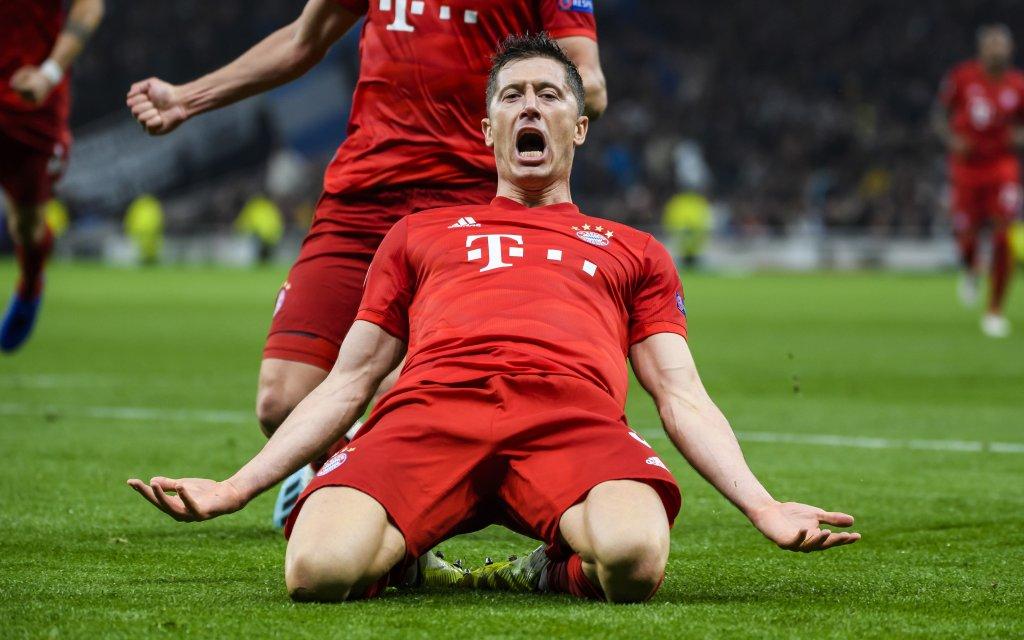 Bejubelt Robert Lewandowski auch gegen Piräus wie hier gegen Tottenham einen Treffer?