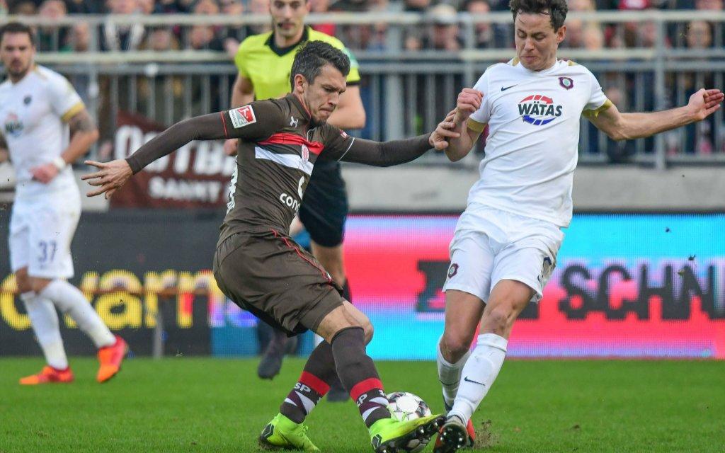 St. Pauli könnte in Aue noch tiefer in den Tabellenkeller rutschen.