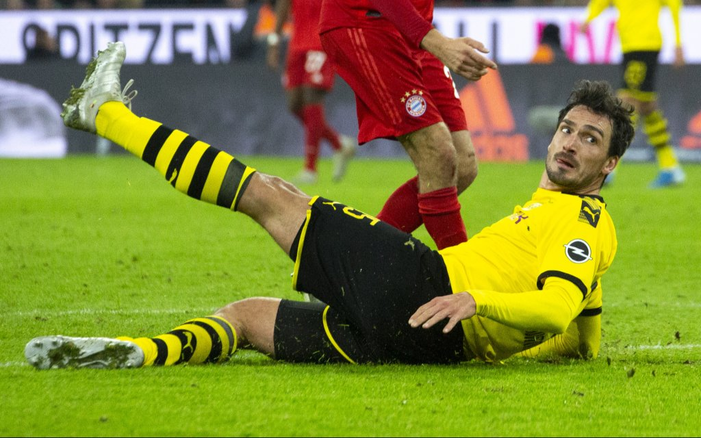 Mats HUMMELS 15, DO. Fussball, FC Bayern Muenchen M - Borussia Dortmund DO 4:0