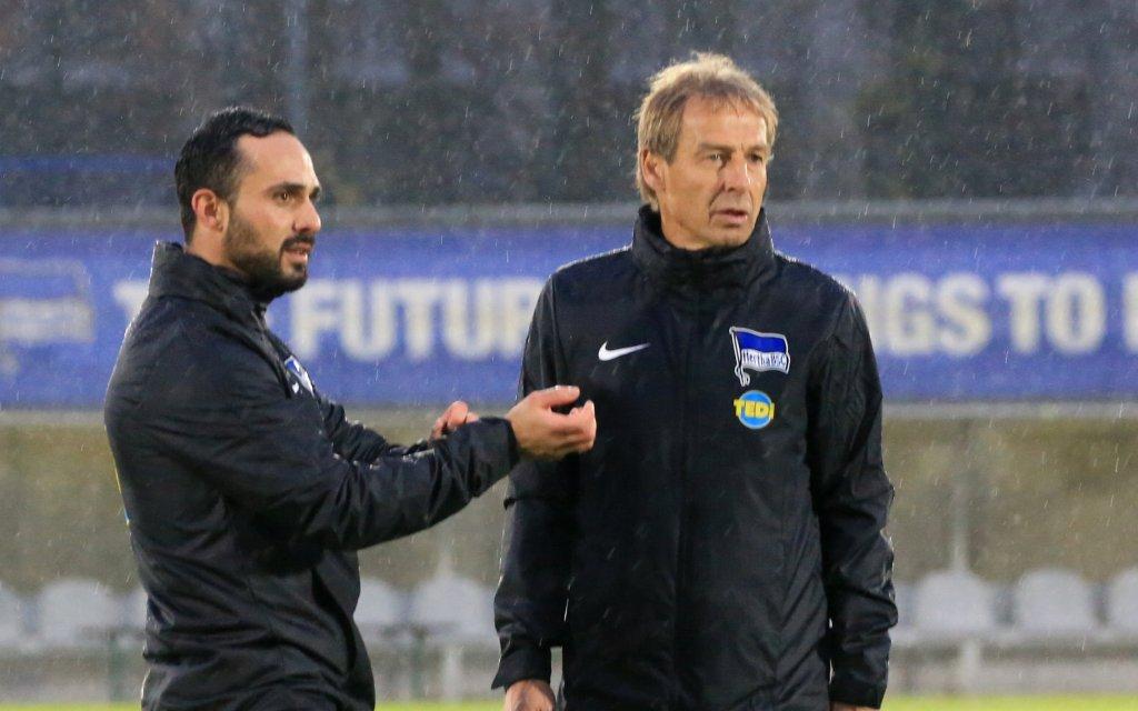 Cheftrainer Juergen Klinsmann Hertha BSC, Co-Trainer Alexander Nouri Hertha BSC Berlin