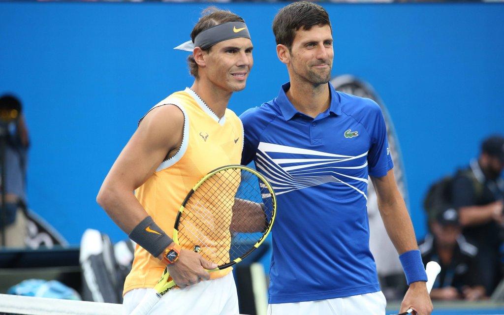 Wollen erneut bei den Australian Open ins Finale: Novak Djokovic (r.) und Rafael Nadal.
