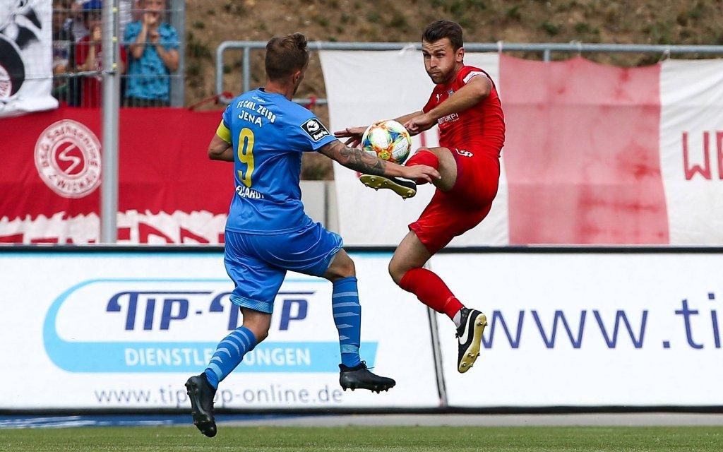 Zwickau, 04.08.2019, GGZ-Arena, Fußball, Herren, 3. Liga, 4. Spieltag , FSV Zwickau - FC Carl Zeiss Jena 2:0 (1:0)