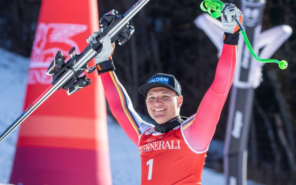 Thomas Dreßen will auch die Abfahrt in Saalbach gewinnen.