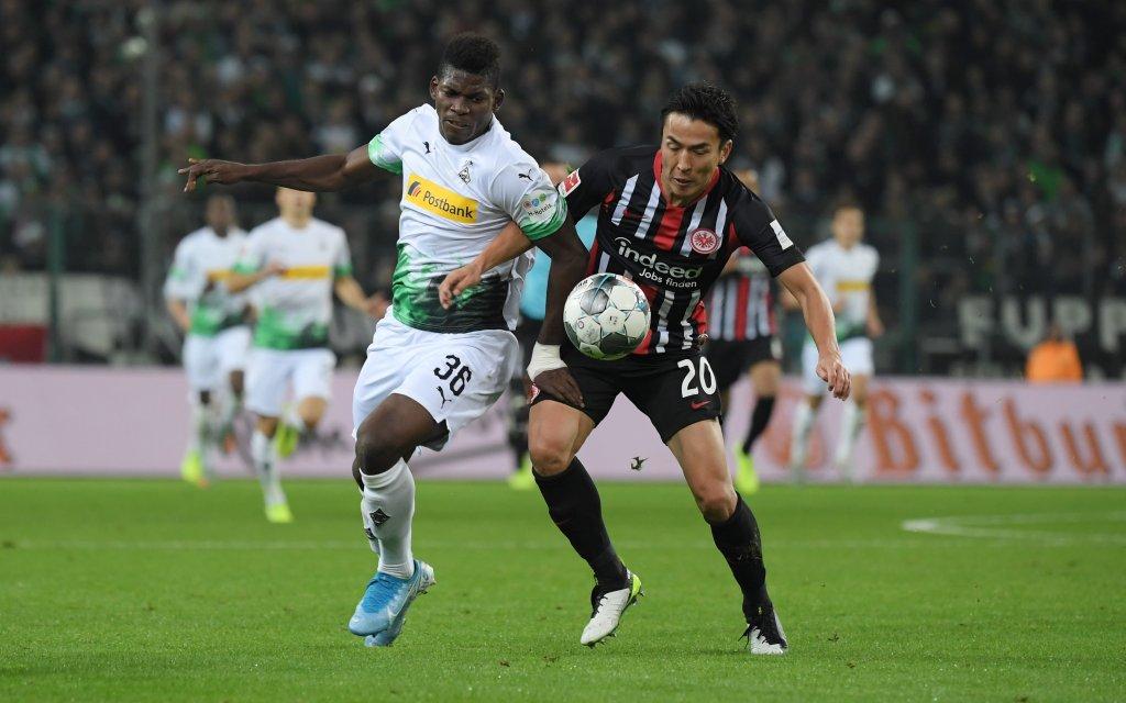 Borussia Moenchengladbach - Eintracht Frankfurt 4:2, Breel Embolo Borussia Moenchengladbach, Makoto Hasebe Eintracht Frankfurt