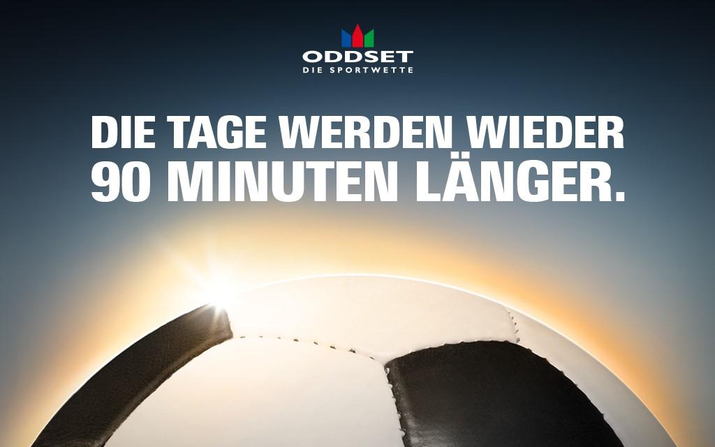 Die Tage werden bei ODDSET - Die Sportwette wider 90 Minuten länger.