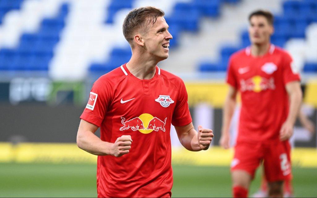 TSG 1899 Hoffenheim - RB Leipzig, 12.06.2020 Jubel ueber das 0:2: Torschuetze Dani Olmo Leipzig